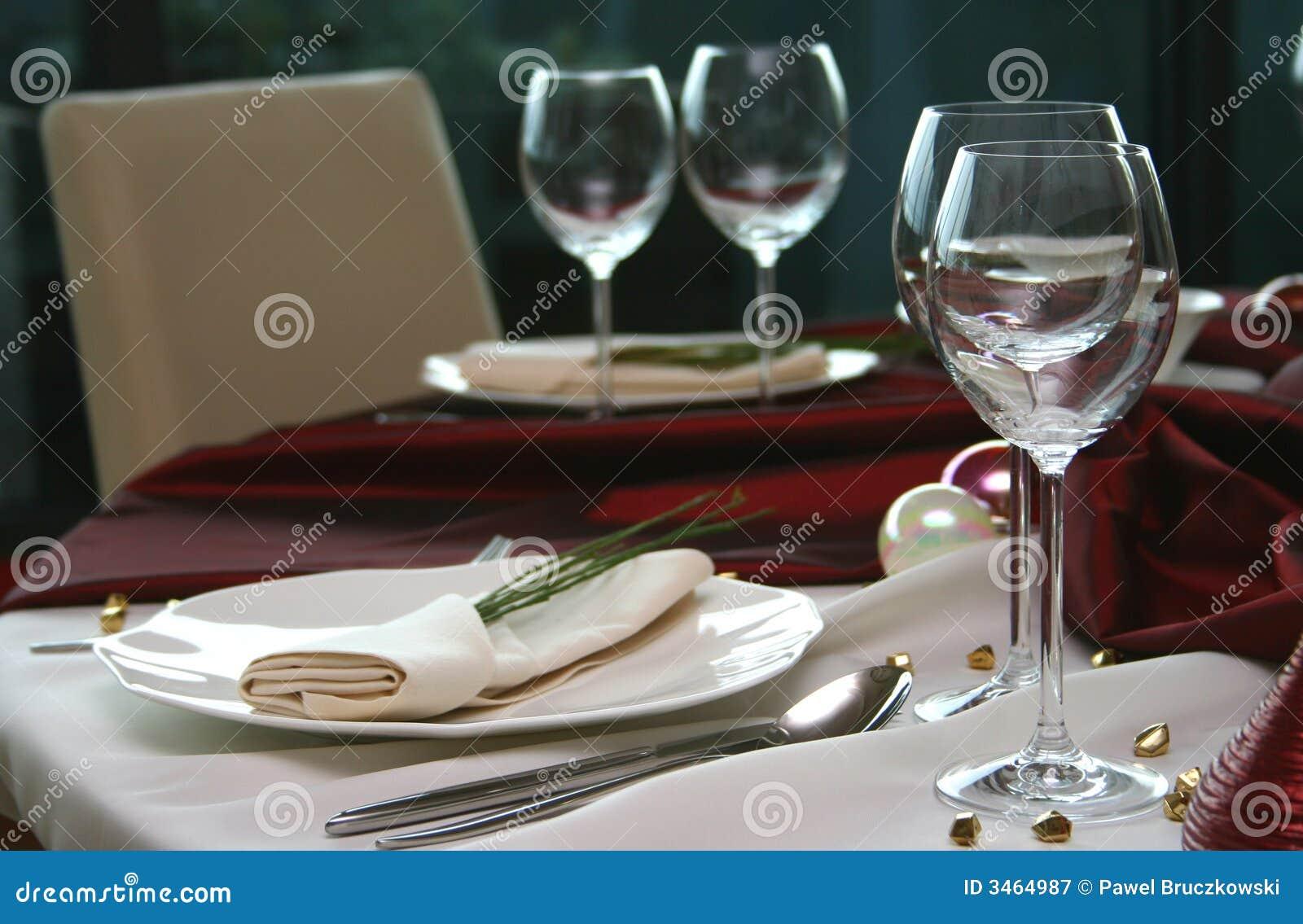 Tabela elegante em um restaurante