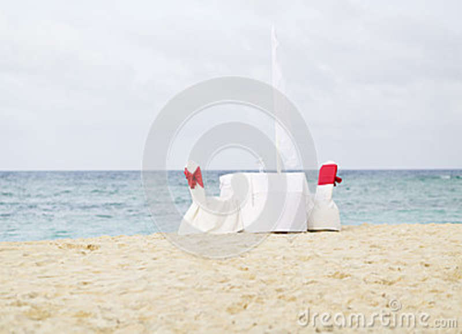 Tabela romântica para dois na praia
