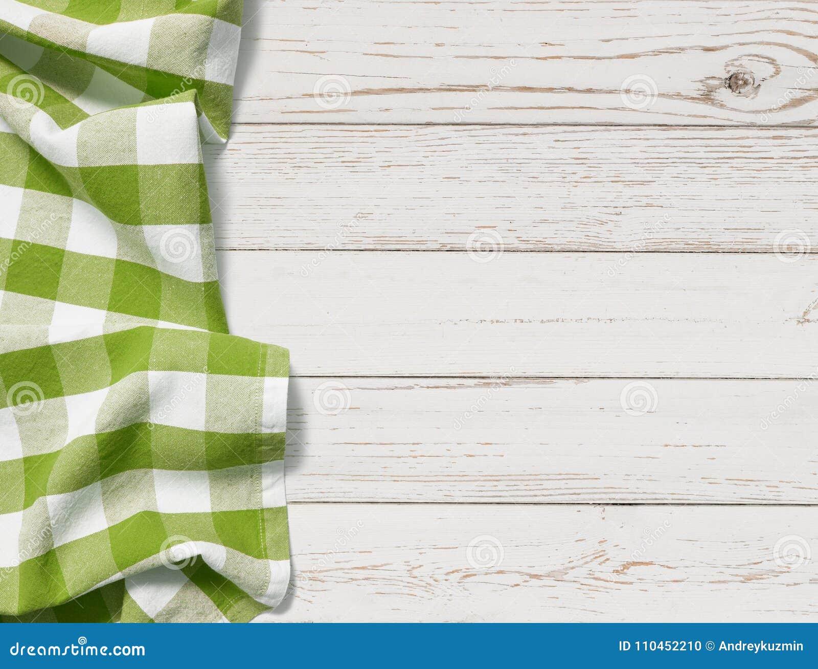 Tabell med grön bakgrund för bästa sikt för picknicktorkduk