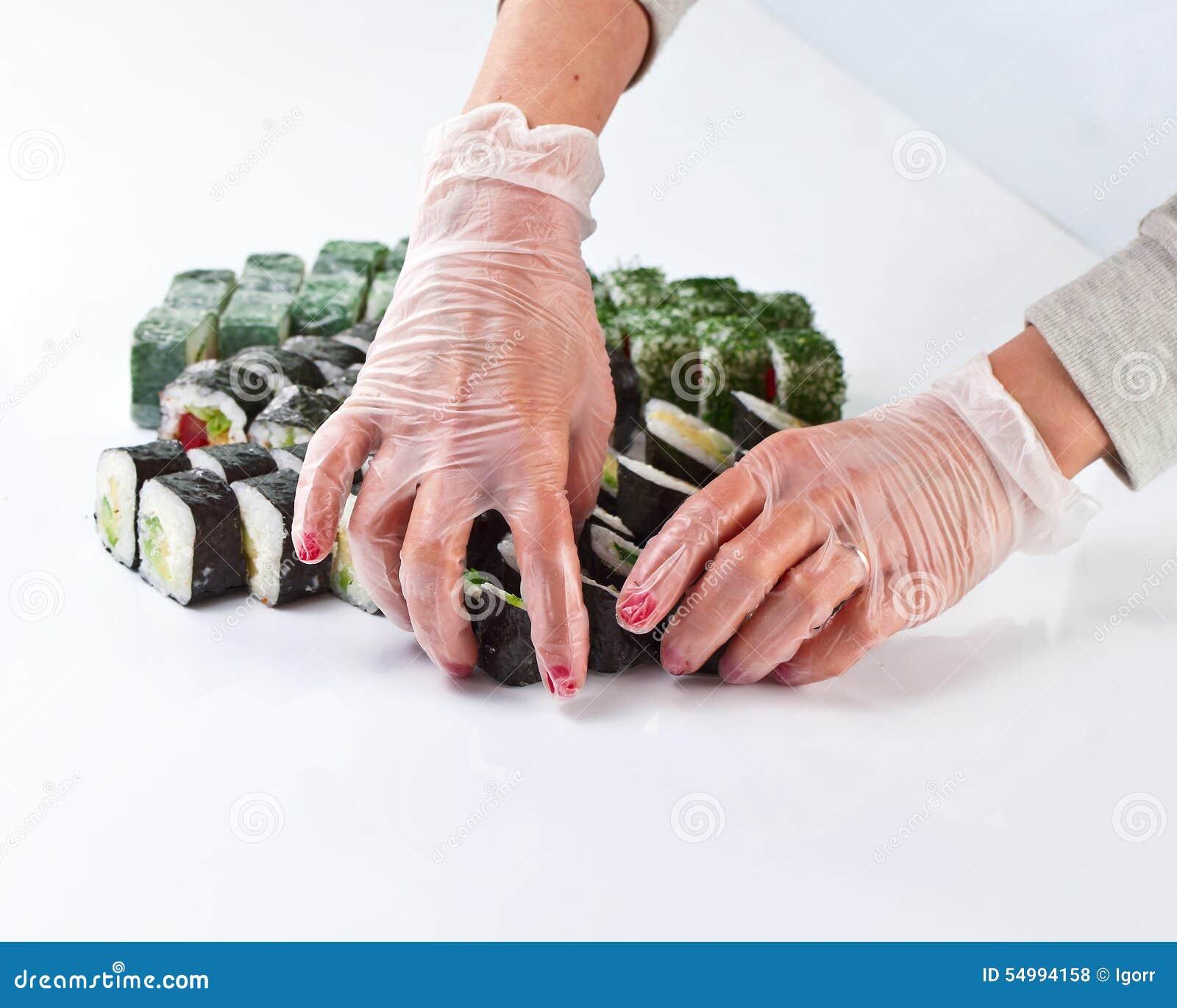 Tabell med sushi