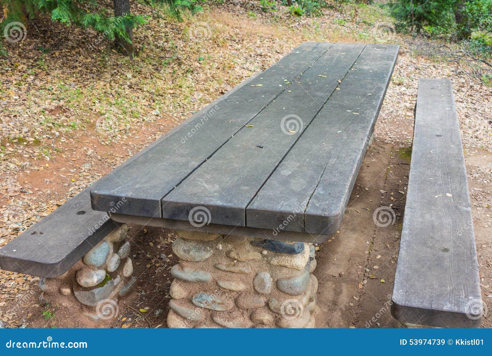 Tabella di picnic di vista lunga
