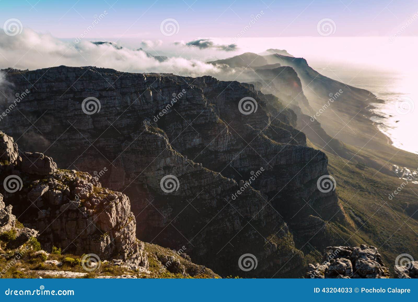 Download Tabellberg i Cape Town fotografering för bildbyråer. Bild av landskap - 43204033