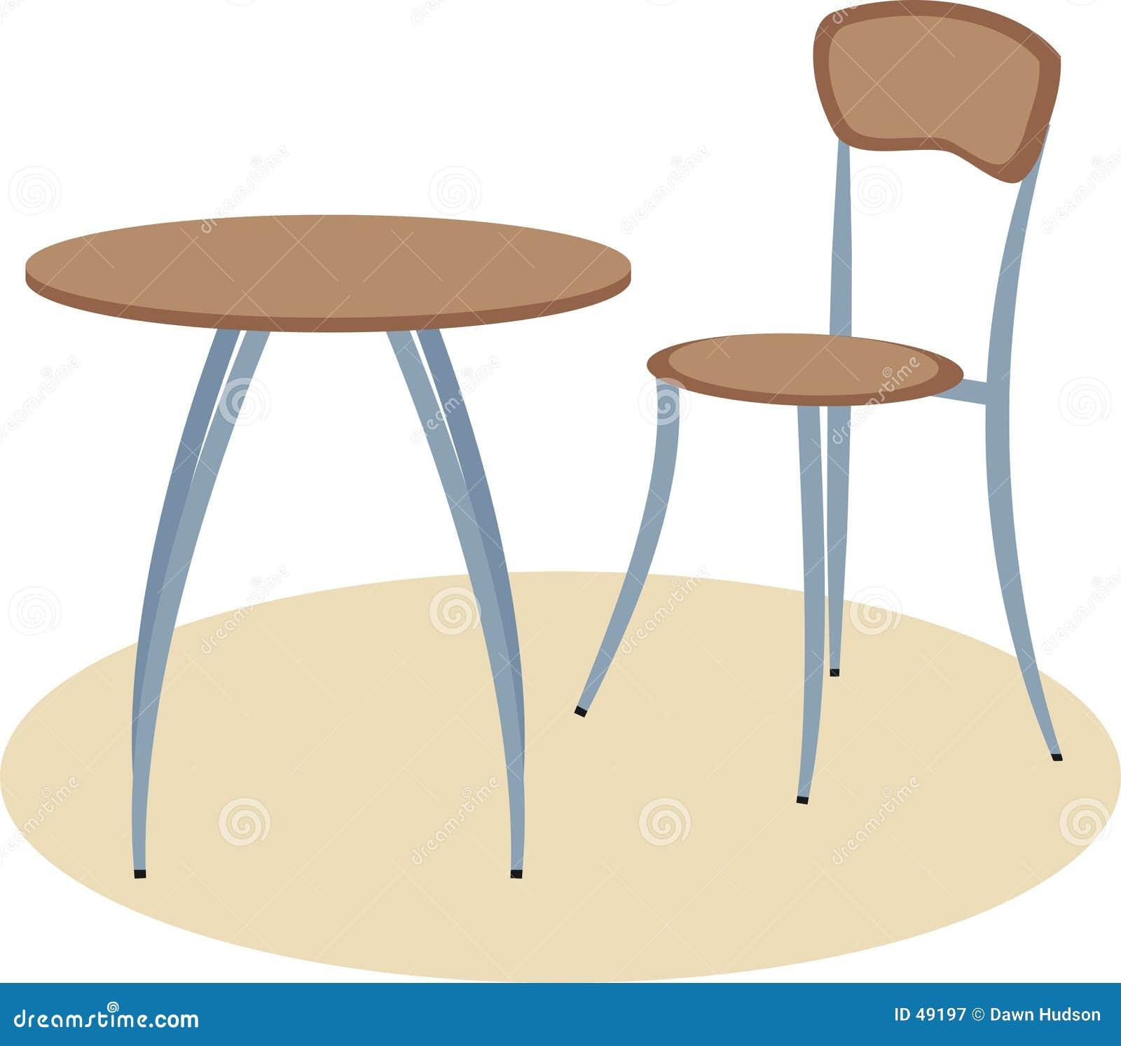 Tabelle und Stuhl