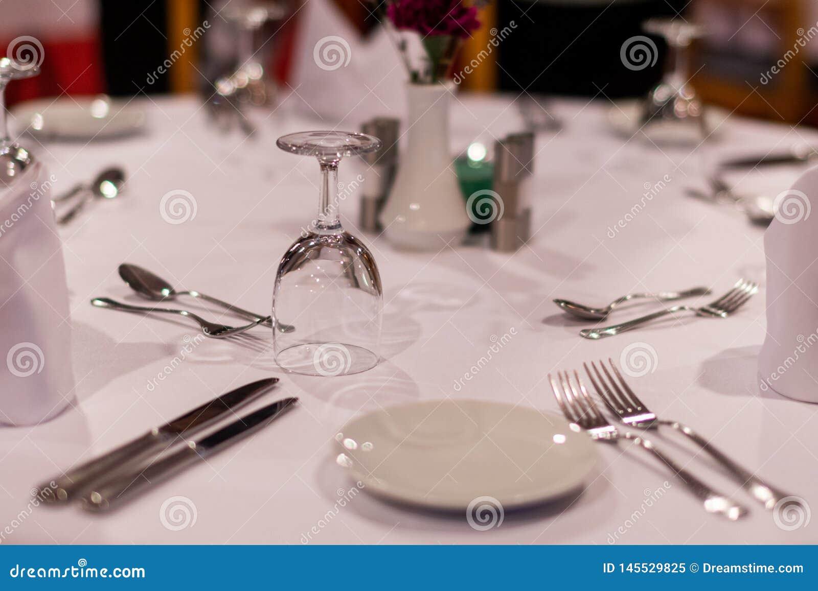 Tabellenauftrag in einem Restaurant