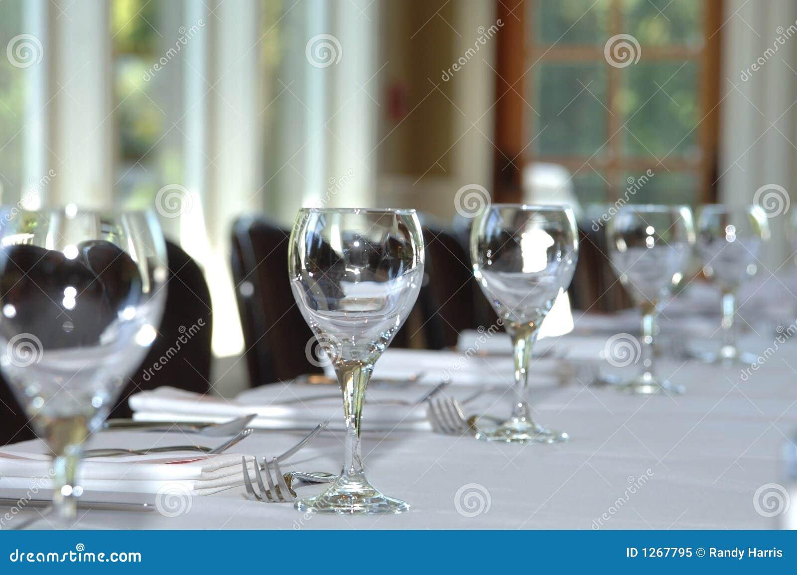 Tabelleneinstellung an der Hochzeit