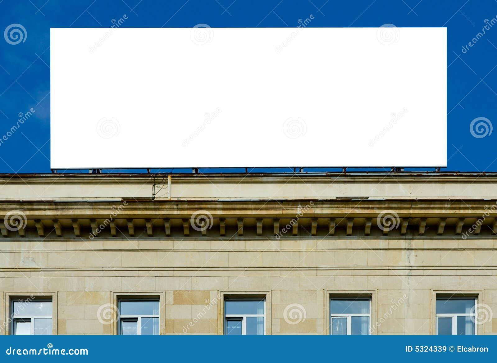 Download Tabellone Per Le Affissioni Bianco Immagine Stock - Immagine di pubblicità, front: 5324339