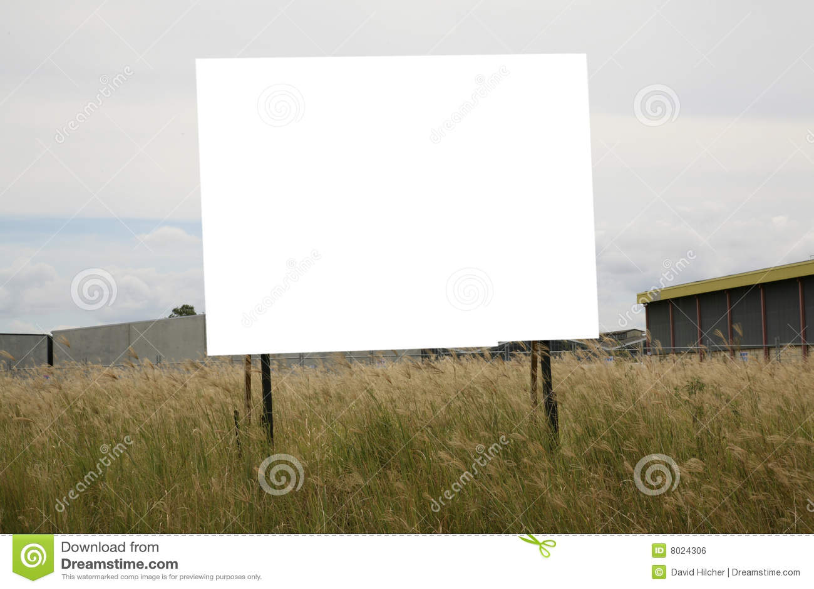 Tabellone per le affissioni in bianco