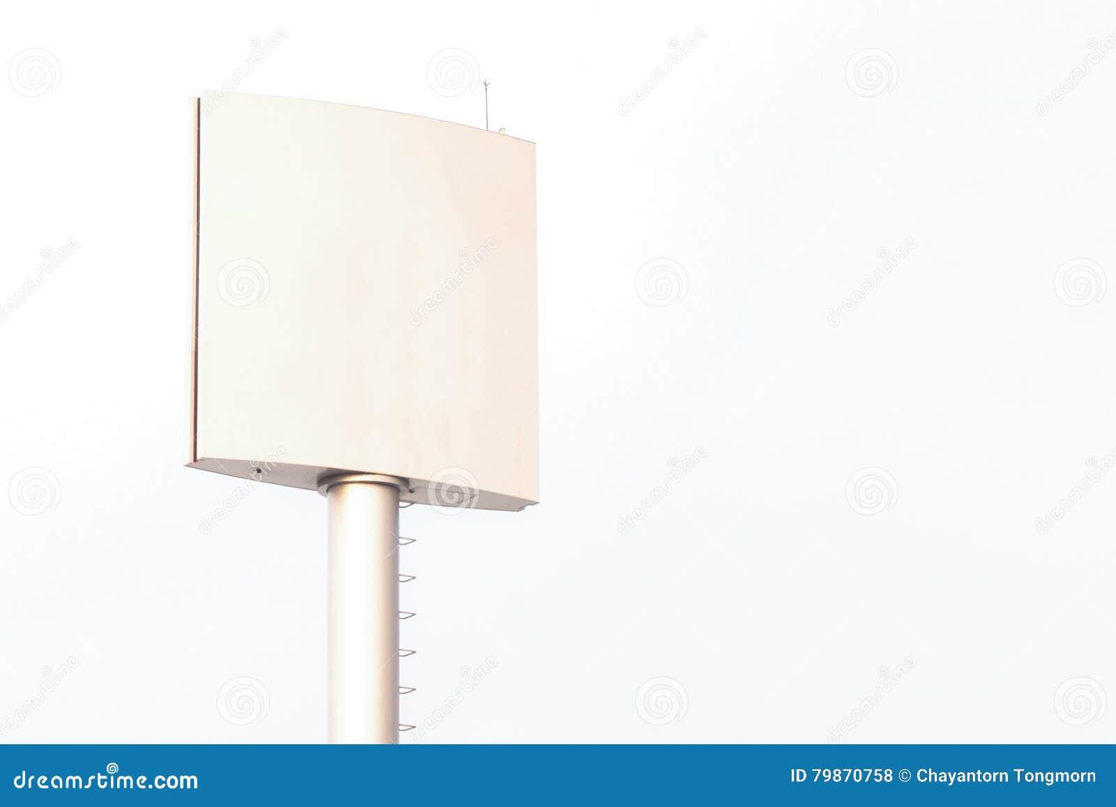 Tabellone per le affissioni in bianco per il manifesto all aperto di pubblicità o tabellone per le affissioni in bianco a tempo d