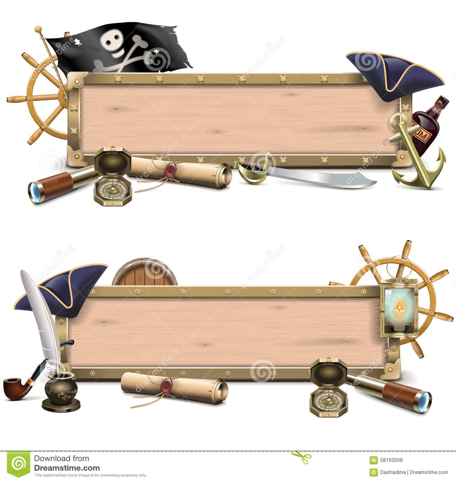 Tabelloni per le affissioni del pirata di vettore