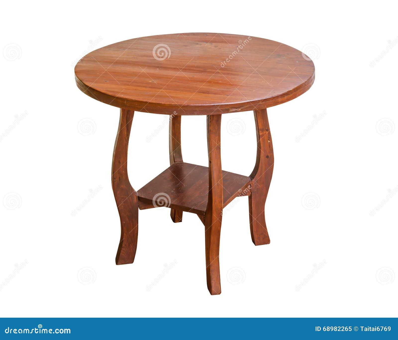 Tabla de madera redonda