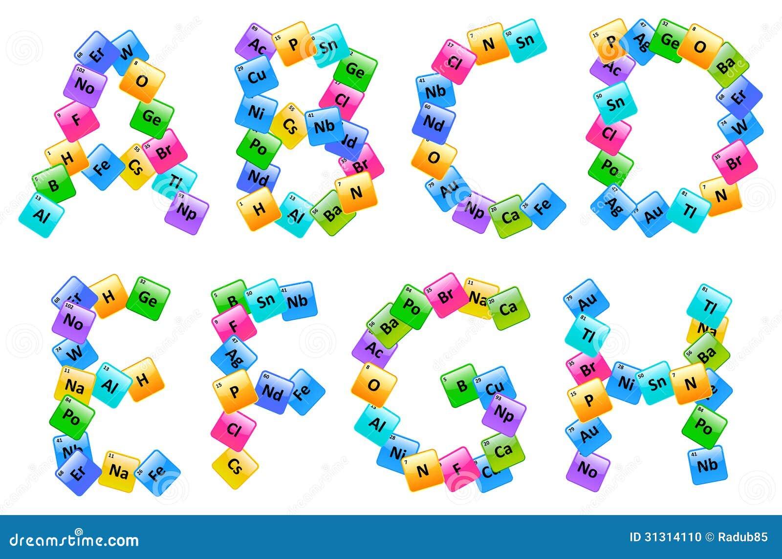 Tabla peridica de letras del alfabeto de los elementos ilustracin tabla peridica de letras del alfabeto de los elementos foto de archivo urtaz Choice Image