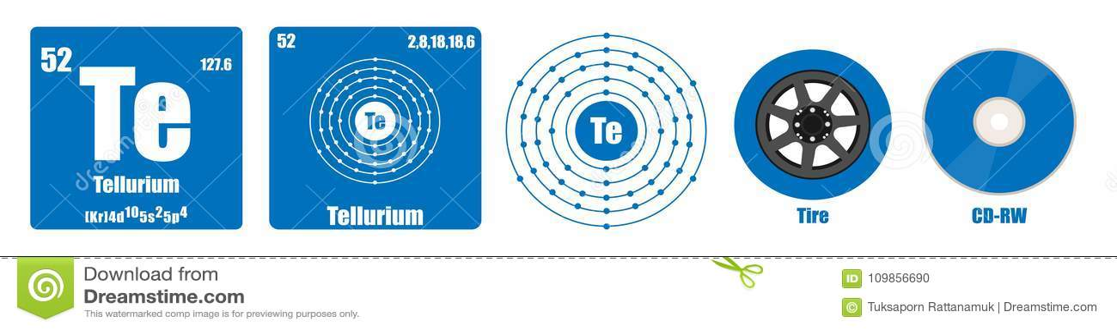 Tabla peridica de telurio del grupo vi del elemento ilustracin del download tabla peridica de telurio del grupo vi del elemento ilustracin del vector ilustracin de urtaz Gallery