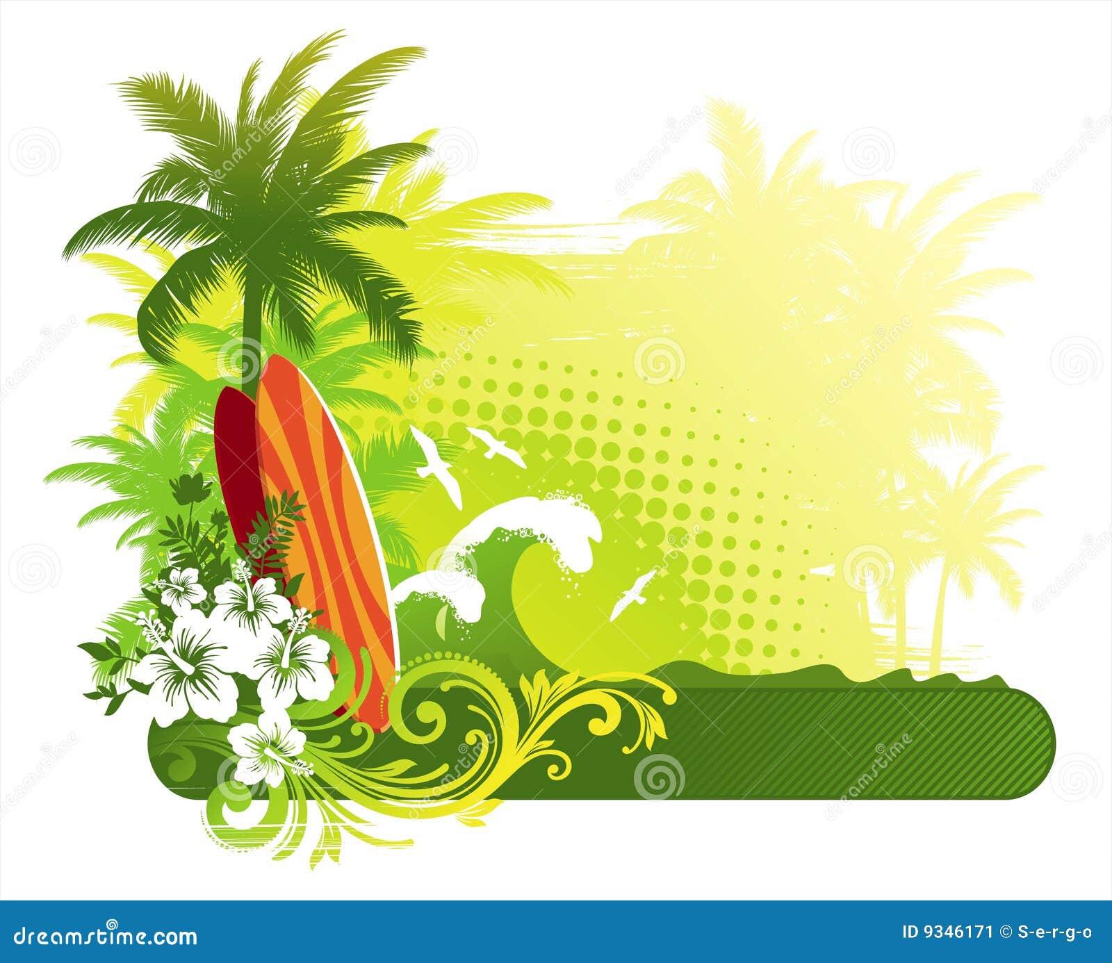 Tablas hawaianas imagen de archivo imagen 9346171 - Dibujos para tablas de surf ...