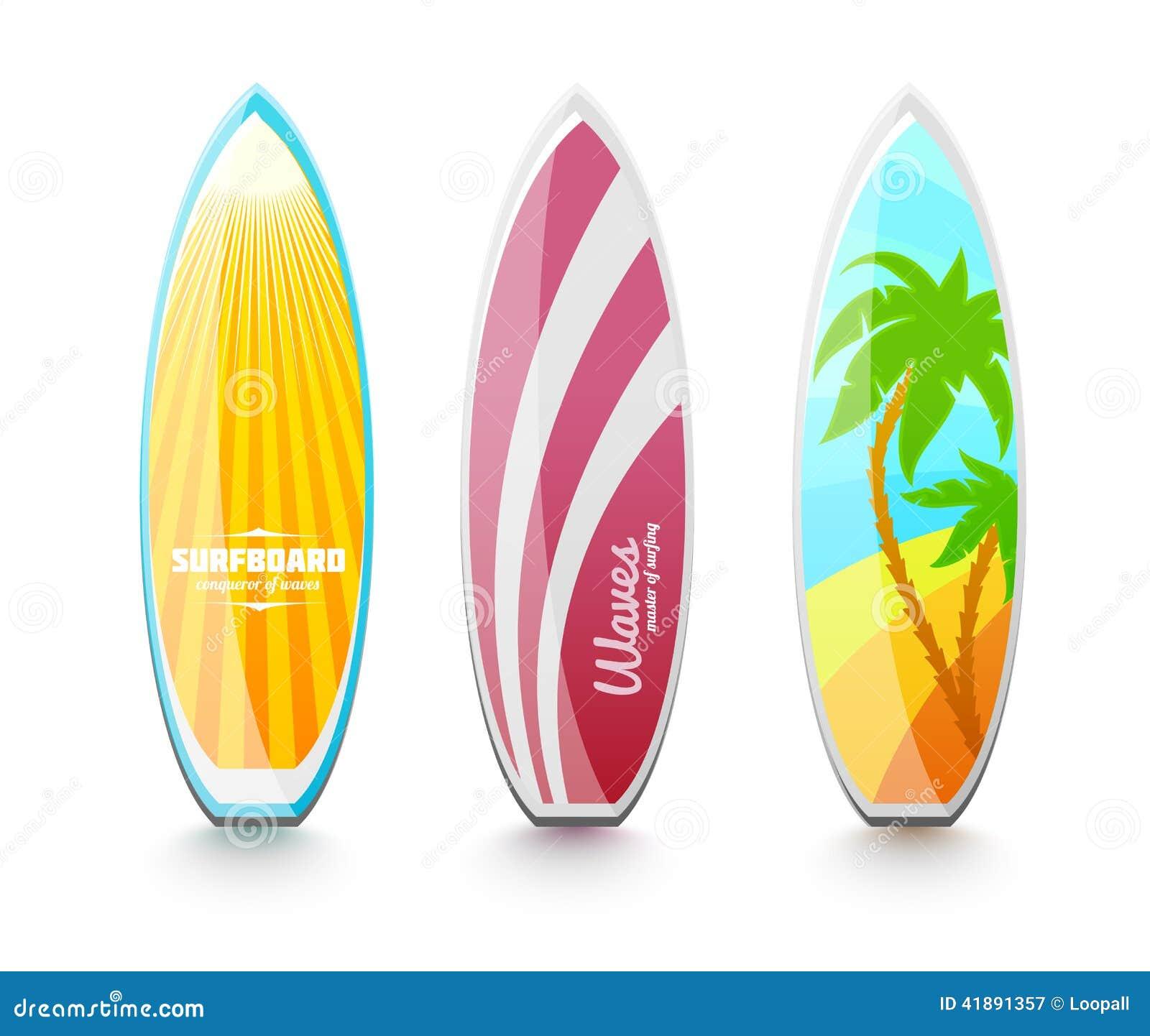 Tablas hawaianas para practicar surf stock de ilustraci n - Dibujos para tablas de surf ...