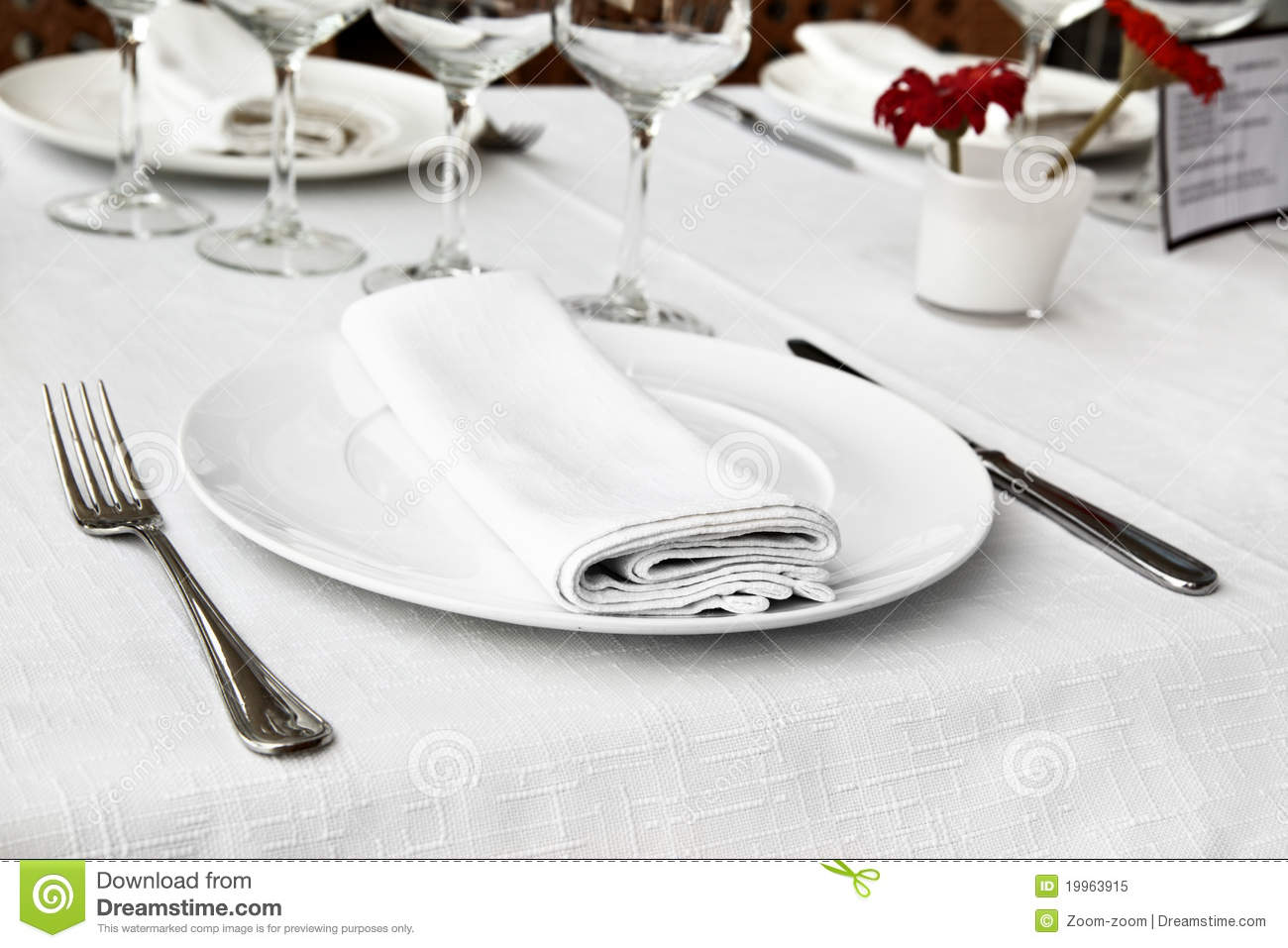 Table Appointments Royalty Free Stock Photo Image 19963915