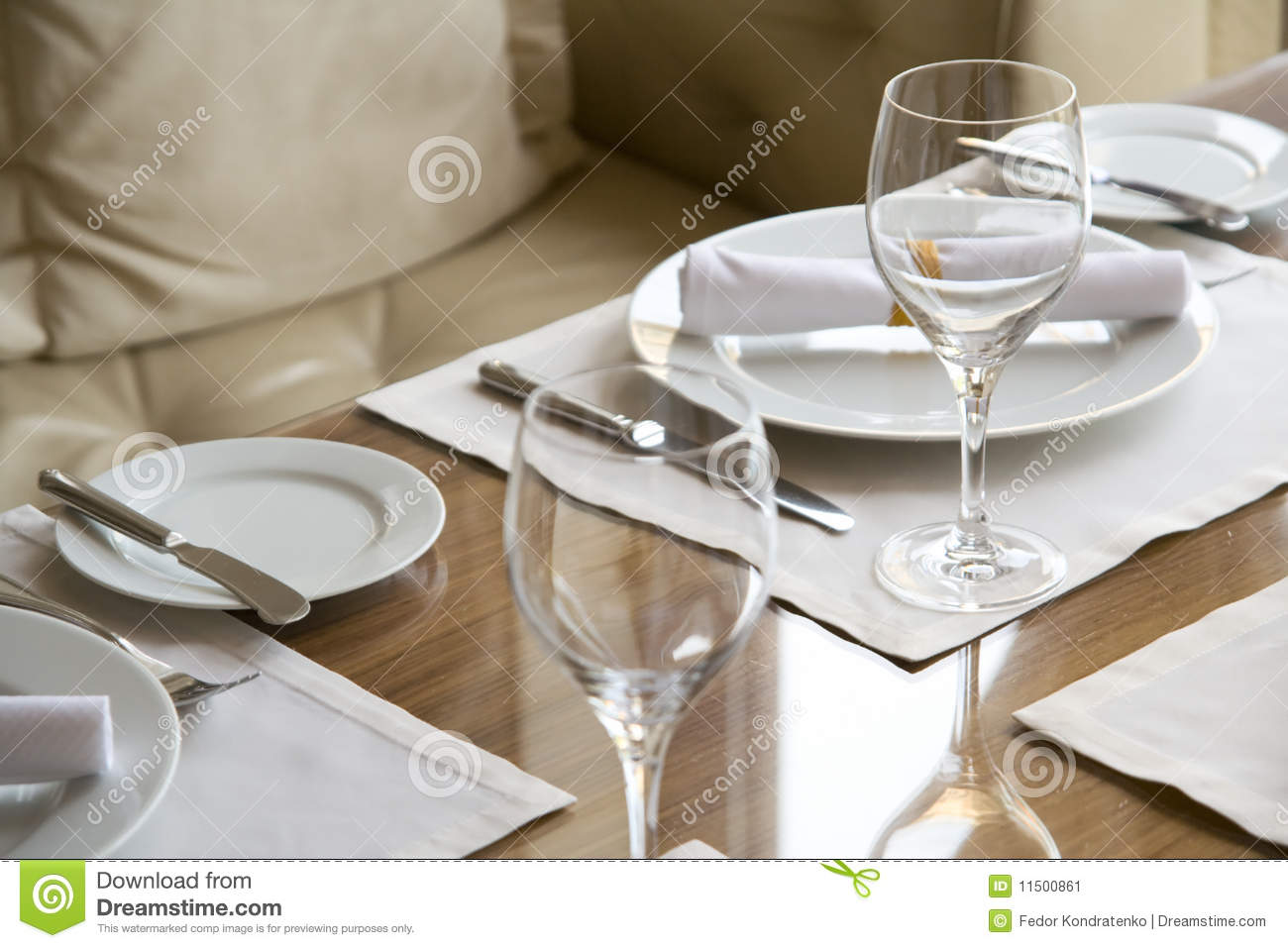 table arrangement in expensive restaurant stock image. Black Bedroom Furniture Sets. Home Design Ideas
