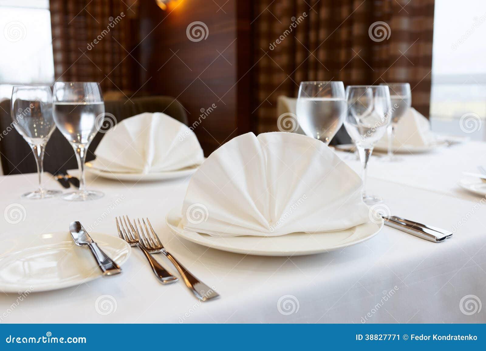 table arrangement in an expensive restaurant stock photo. Black Bedroom Furniture Sets. Home Design Ideas