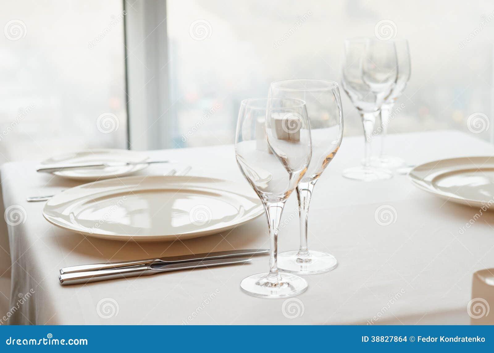 table arrangement in an expensive restaurant stock photo image 38827864. Black Bedroom Furniture Sets. Home Design Ideas