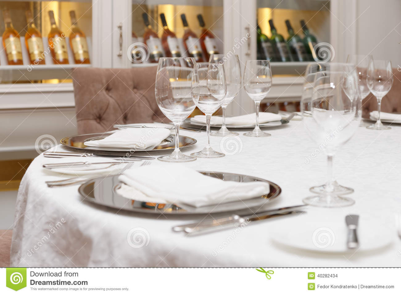 Table arrangement in an expensive restaurant stock photo for Table haute cuisine
