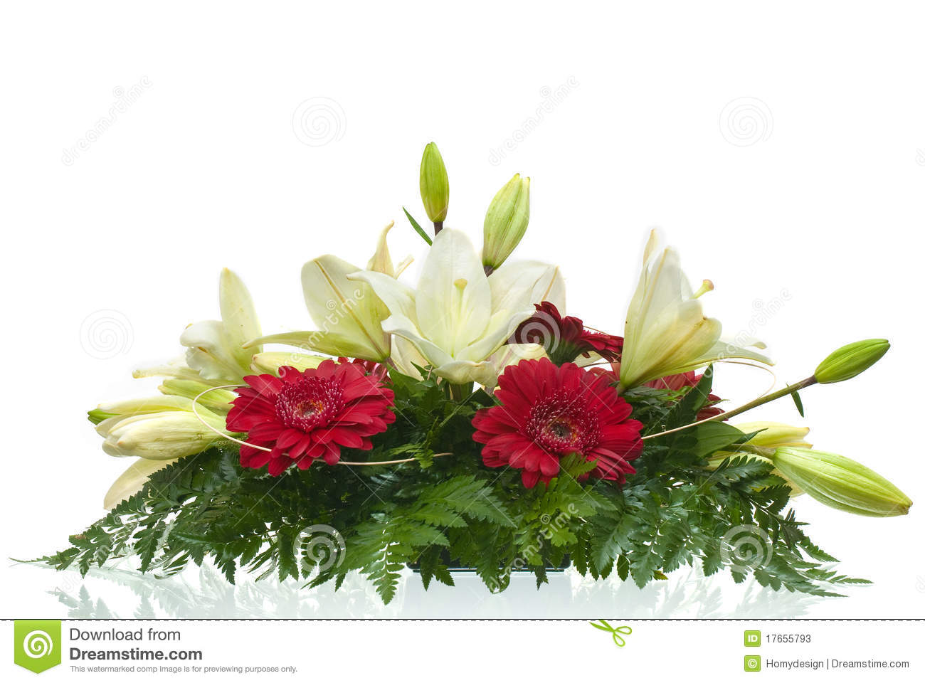 Table Bouquet Of Flowers Stock Image Image Of Botanical 17655793