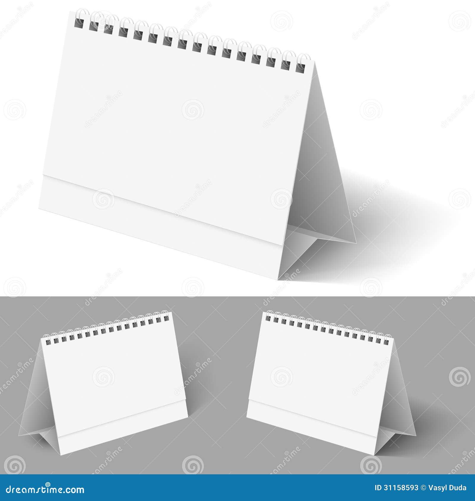 Desk calendar. Illustration on white for design.