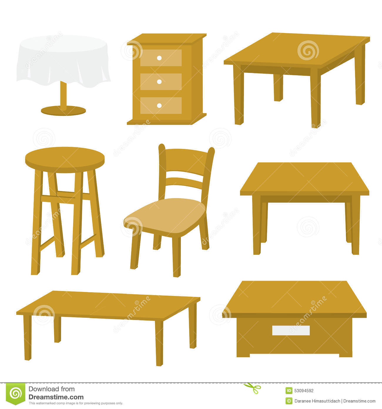 Table chair furniture wood vector design stock vector for Table design vector