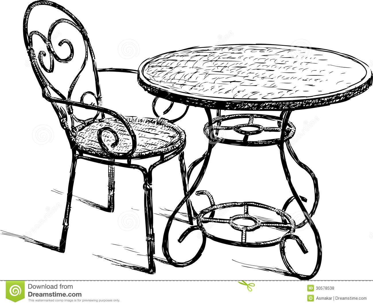 table and chair royalty free stock photos image 30578538