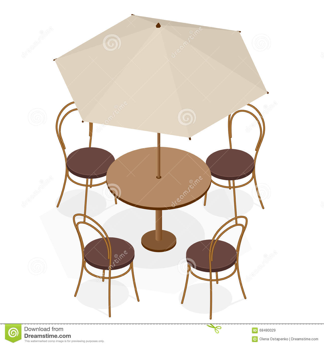 Table With Chairs For Cafes Modern Table And Chairs On White Background Flat 3d Isometric Vector Illustration Stock Vector Illustration Of Sketch Relax 68480029