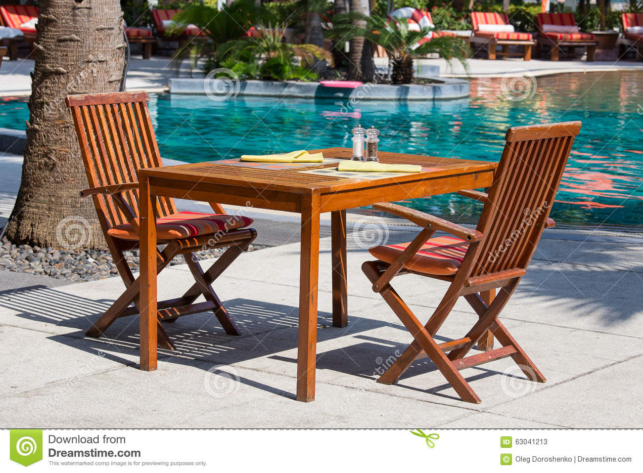 Download comp & Table And Chairs In Empty Cafe Next To The Swimming Pool Thailand ...
