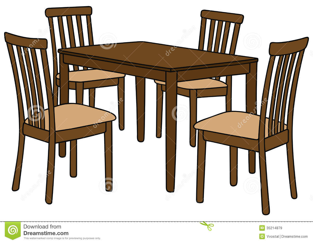 Restaurant tables and chairs clipart -