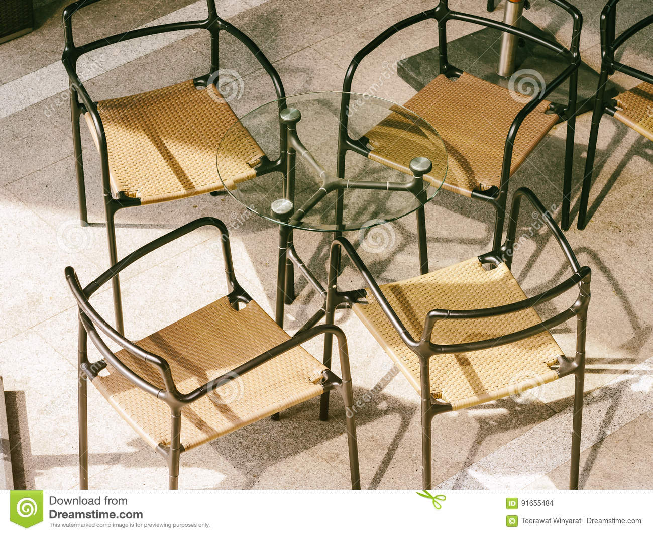 Table And Chairs Seats Cafe Restaurant Stock Photo - Image of ...