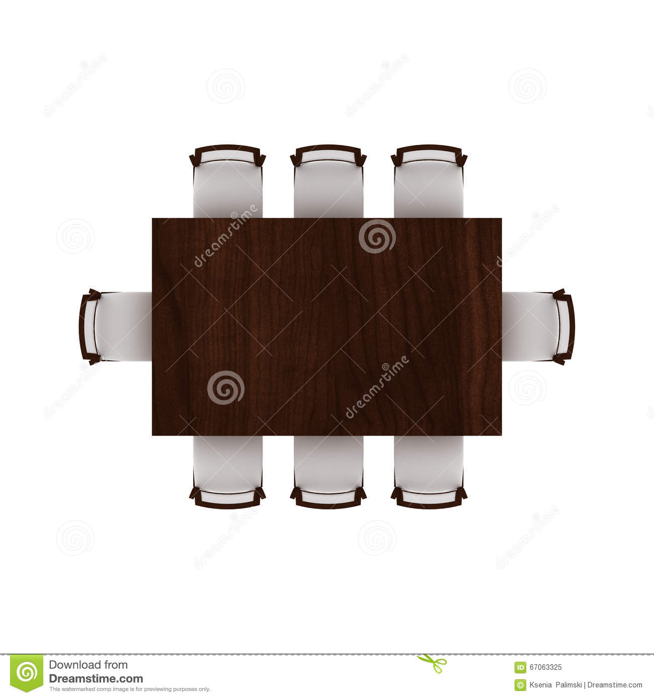 Table with chairs top view stock image. Image of chairs  67063325