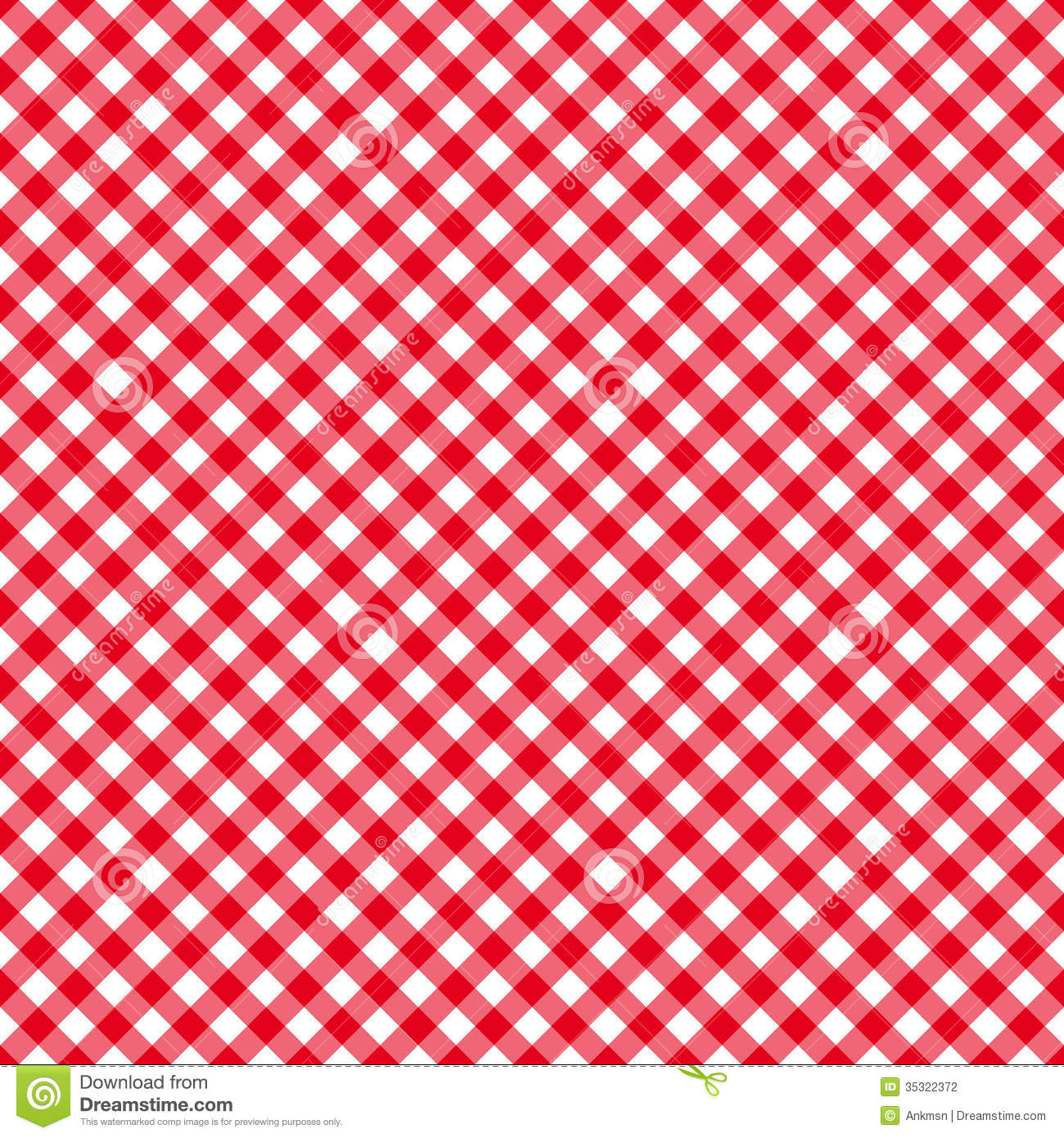 Table Cloth Seamless Pattern Red Stock Photography Image