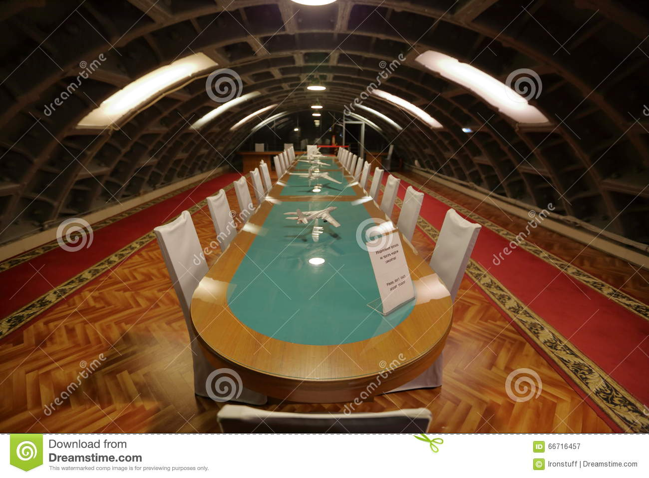 Table For Conferences In The Underground Bunker Editorial Photography ...
