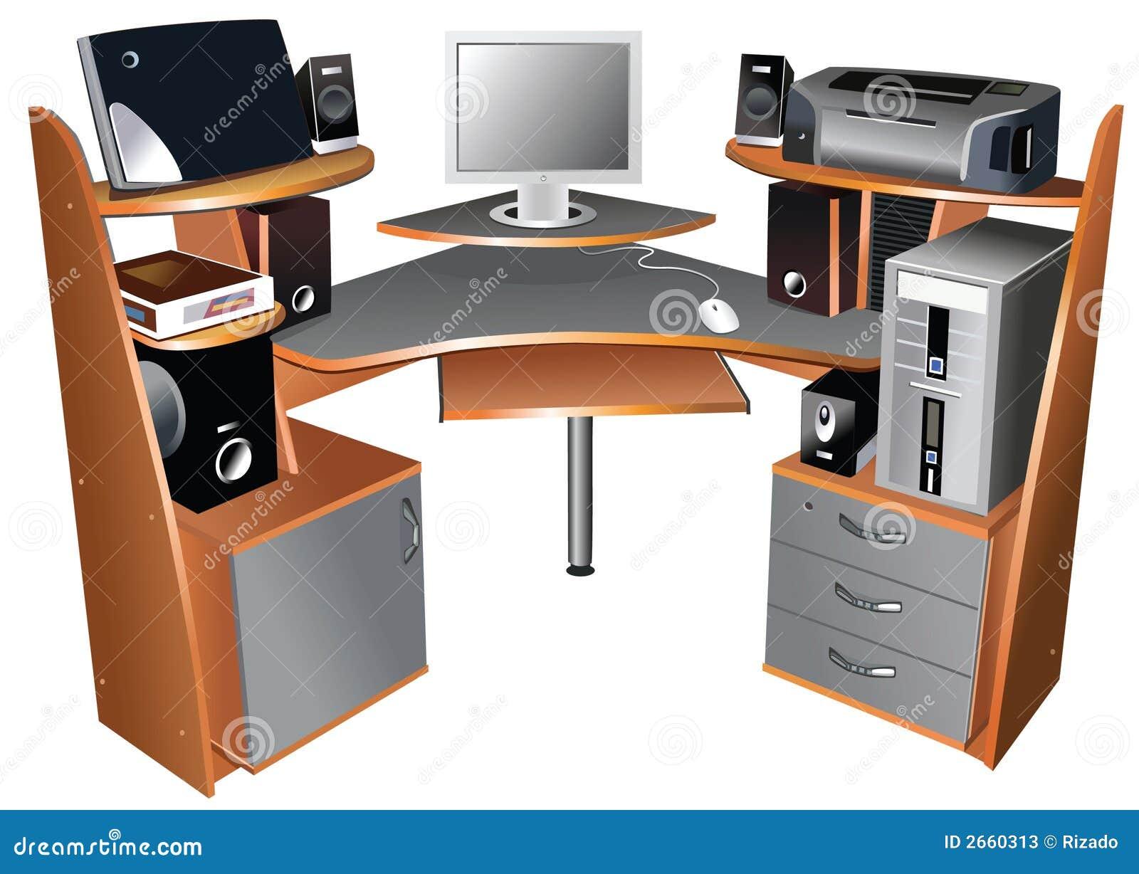 table d 39 ordinateur photos stock image 2660313. Black Bedroom Furniture Sets. Home Design Ideas