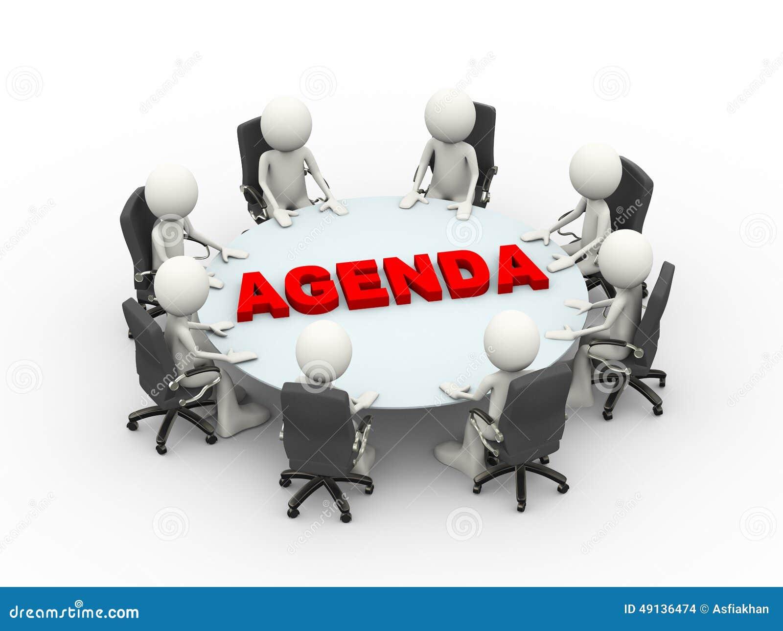 Table d 39 ordre du jour de conf rence de r union d 39 affaires for Table jour de l an