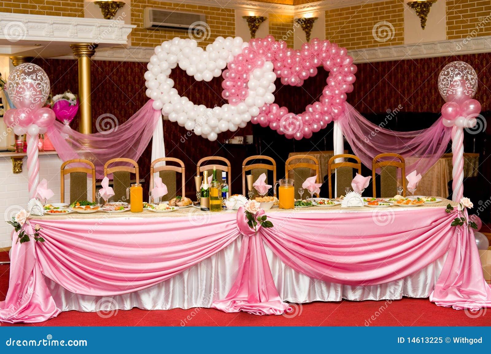 Table de banquet de mariage