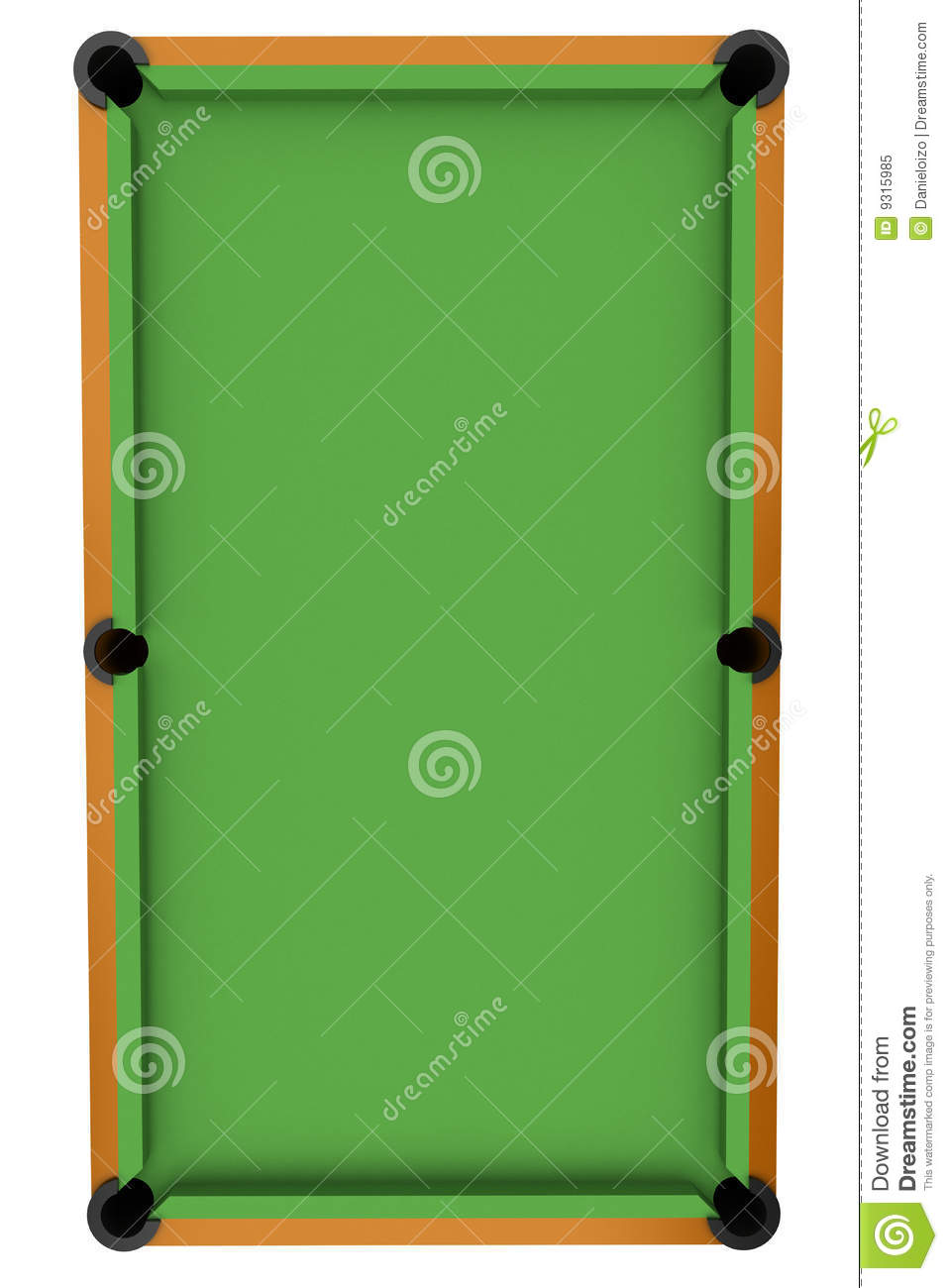 Table De Billard De Billard Illustration Stock