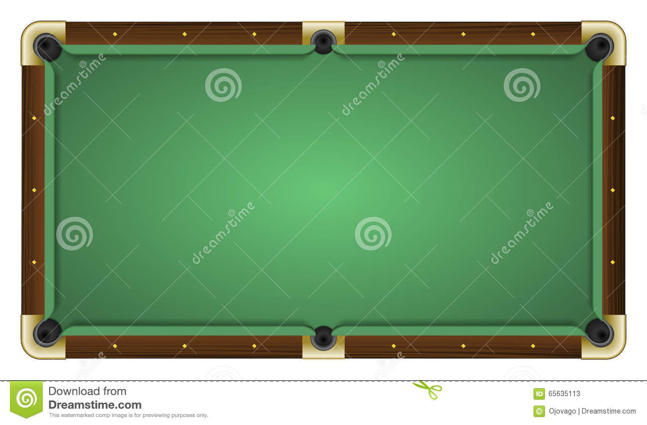 Table de billard verte vide