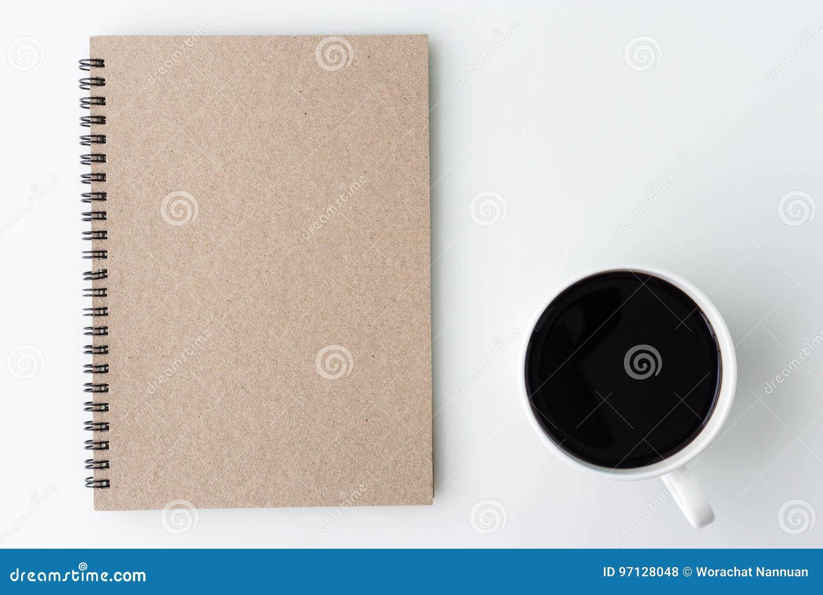 Table de bureau de bureau blanc moderne avec le carnet note une