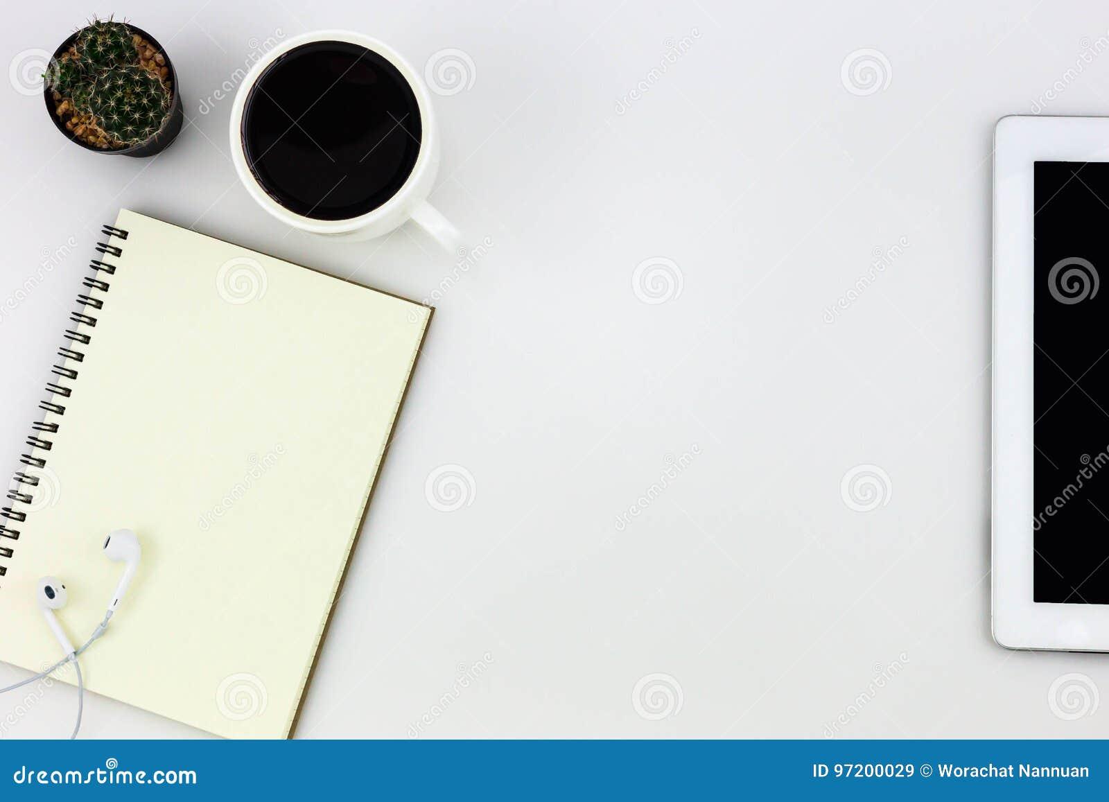 Table de bureau de bureau blanc moderne avec le comprimé une