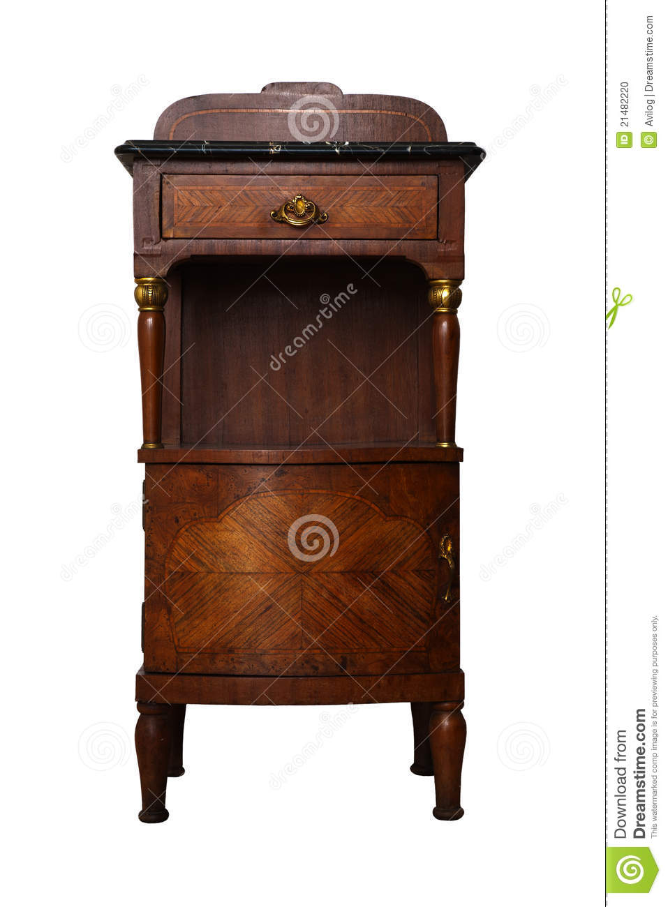 table de chevet antique photo stock image 21482220. Black Bedroom Furniture Sets. Home Design Ideas