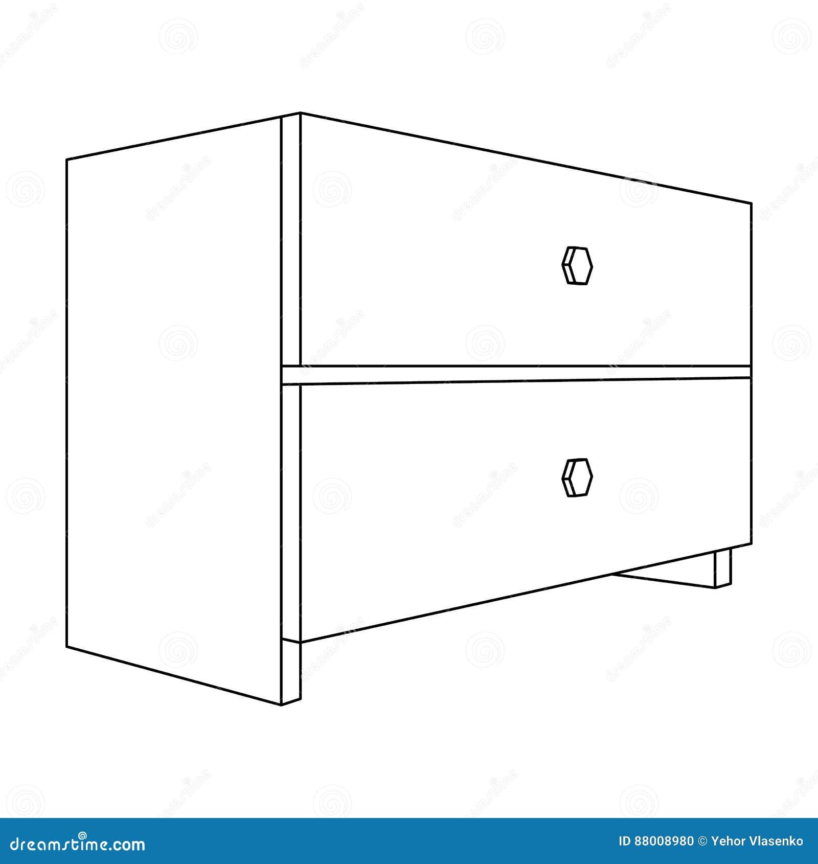 Blanche Tiroirs Avec Deux Pièce Table Accessoires De Chevet Pour SzpqUMVG