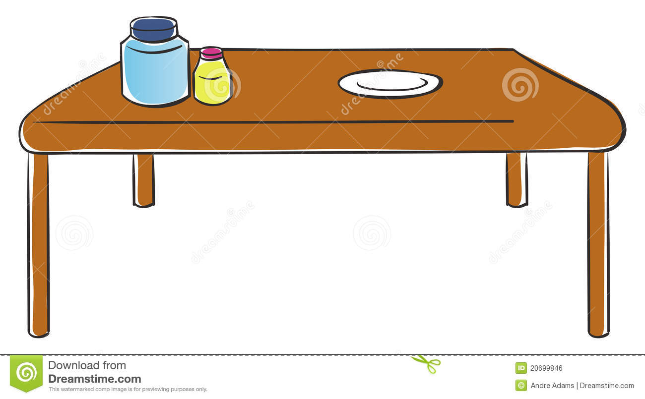 table de cuisine illustration de vecteur illustration du. Black Bedroom Furniture Sets. Home Design Ideas