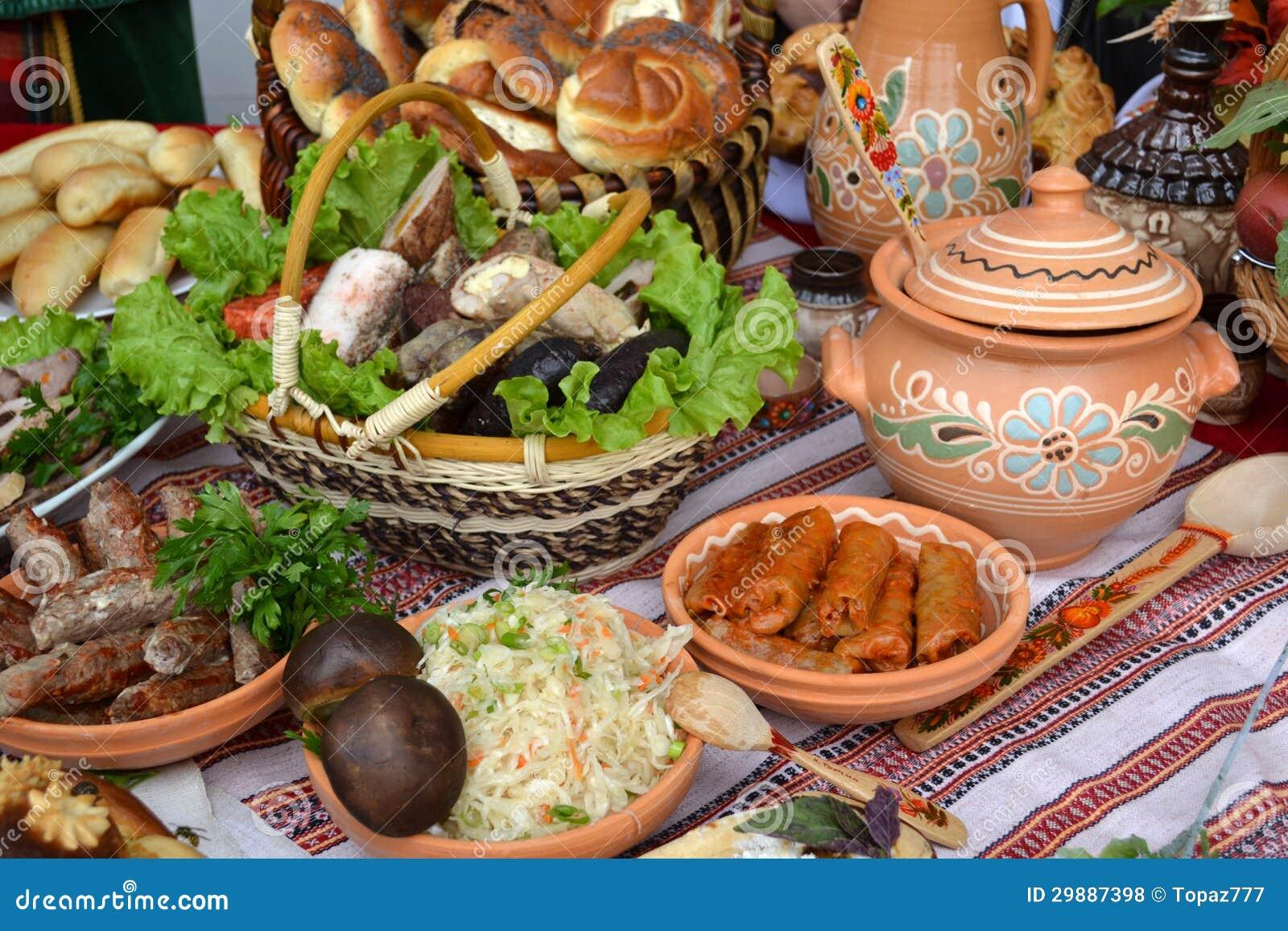 Table De Cuisine Ukrainienne Photo Stock Image Du Tissu