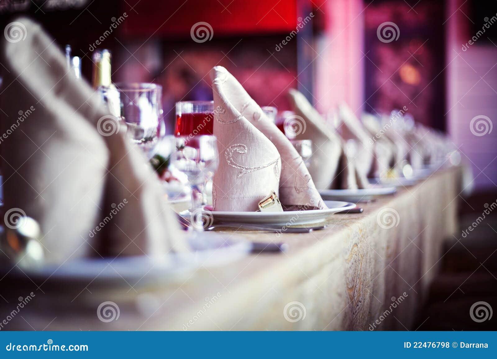 Table de dîner de mariage