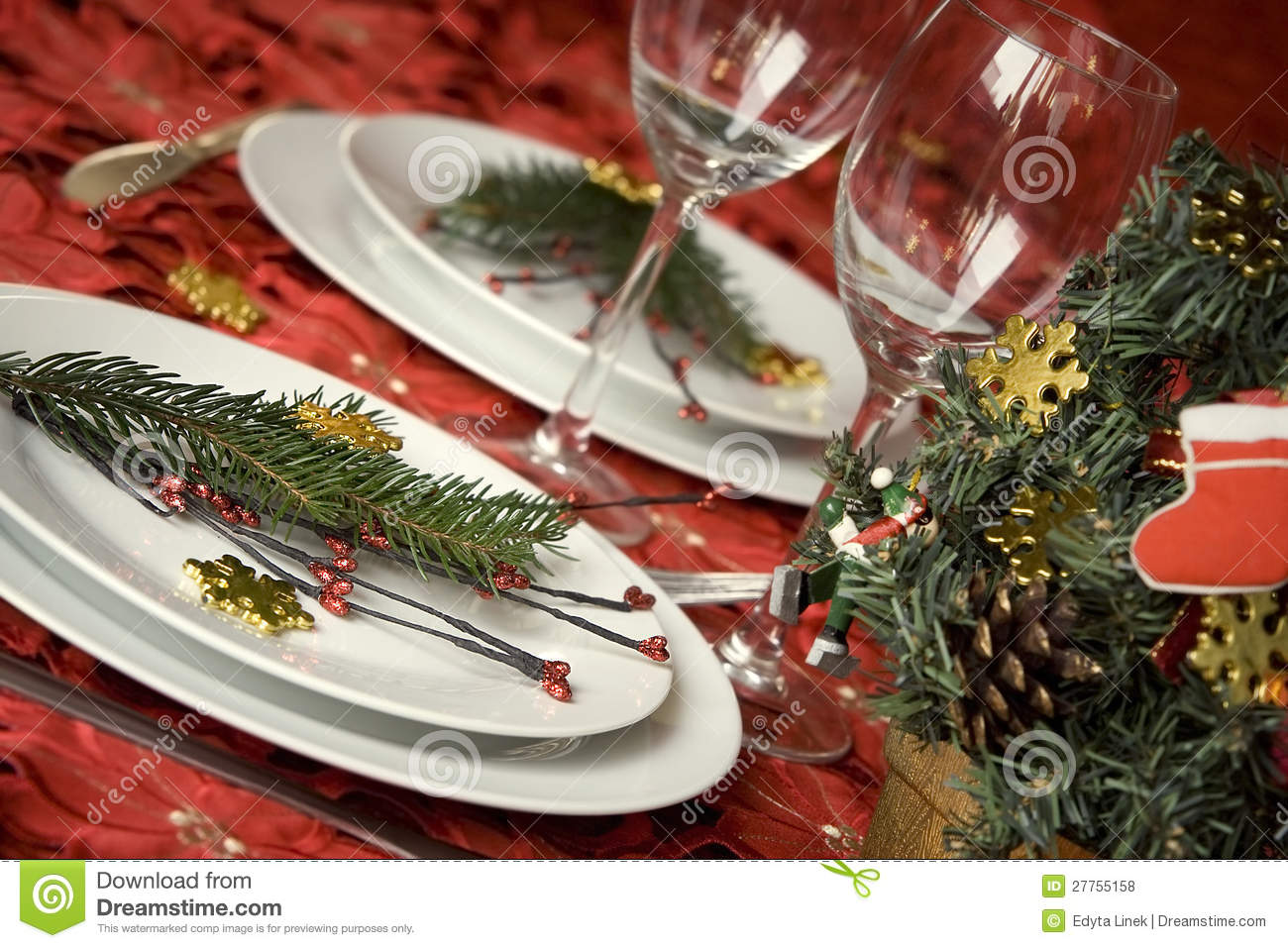 Table de dîner de Noël