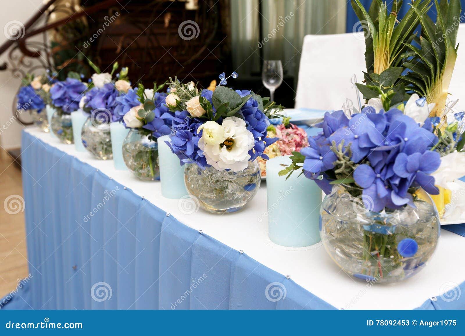 Deco De Table Bougie table de mariage de décoration avec des bougies et des