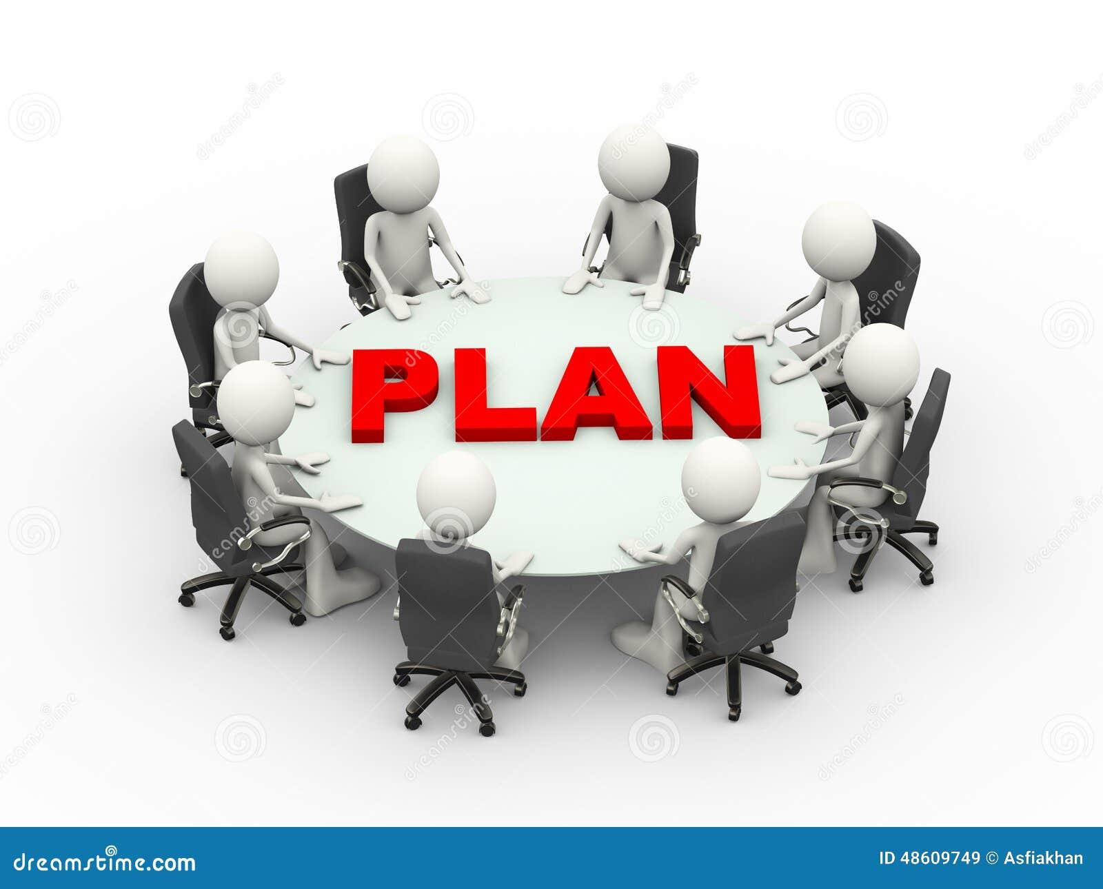 Table de plan de conf rence de r union d 39 affaires des for Table une personne