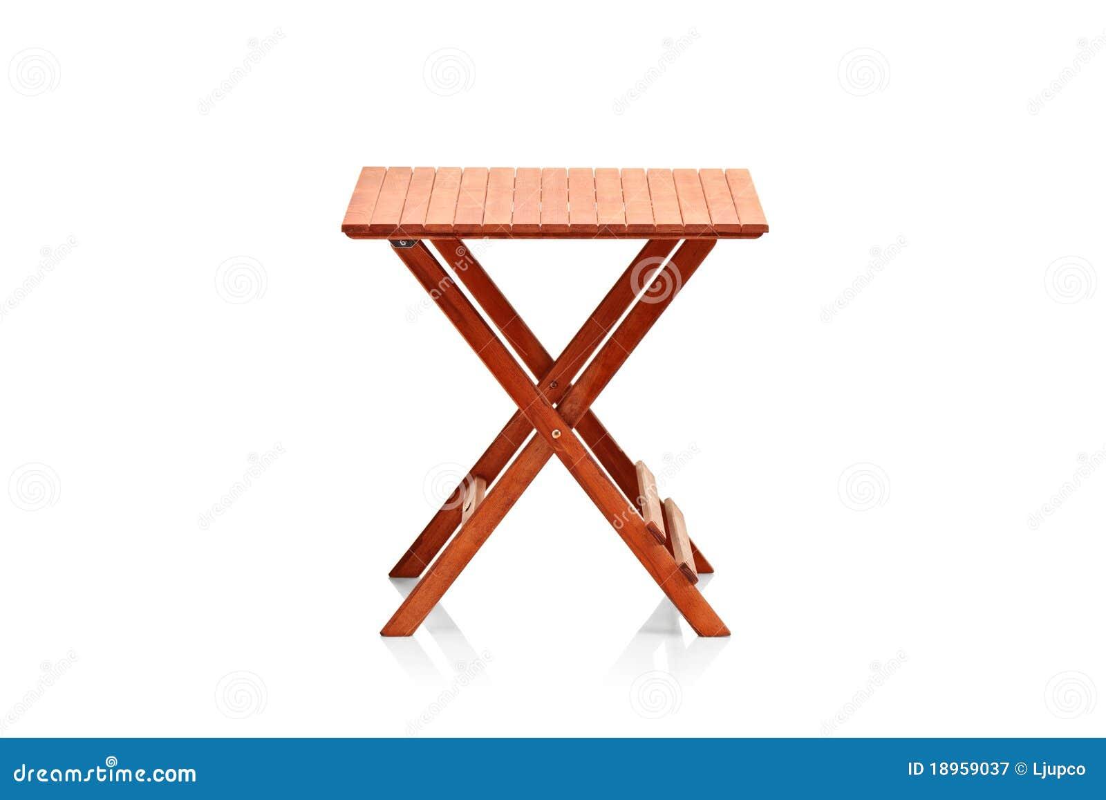 Table de pliage en bois